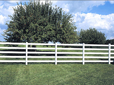 Vinyl Post Amp Rail Fence Styles Heartland Fence Peoria Il