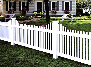 Vinyl Picket Fence Options Heartland Fence Peoria Il