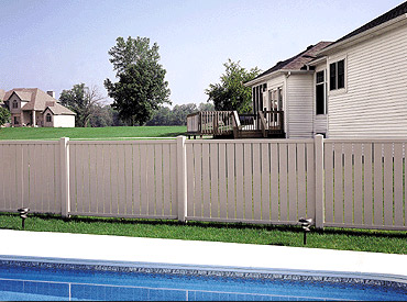 Vinyl Semi Privacy Fence Styles Heartland Deck Amp Fence